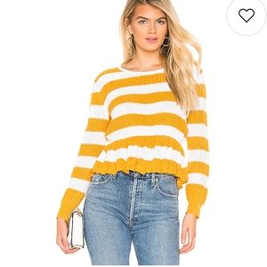 🆕 Lovers and Friends Striped ruffled sweat